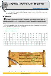 Passé simple du 2 et 3e groupe – CM2 – Soutien scolaire – Aide aux devoirs