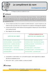 Complément du nom – CM2 – Soutien scolaire – Aide aux devoirs