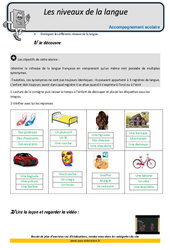 Niveaux de la langue - CM2 - Soutien scolaire - Aide aux devoirs
