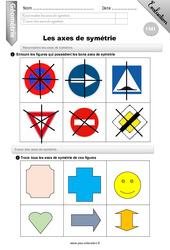 Axes de symétries – Evaluation – Bilan – CM1
