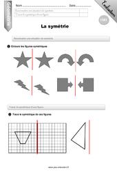 Symétrie – Evaluation – Bilan – CM1