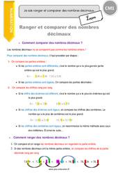 Ranger et comparer des nombres décimaux - Leçon - CM1