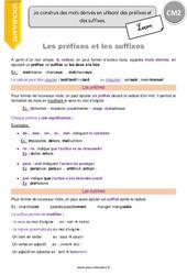 Préfixes et suffixes - Leçon - CM2