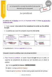 Prédicat – CM2 – Leçon