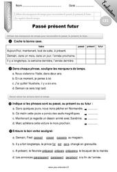 Passé, présent, futur - Evaluation - Bilan - CE1