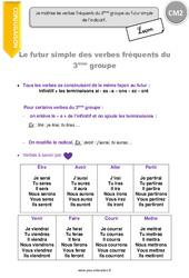 Futur simple des verbes fréquents du 3ème groupe - CM2 - Leçon