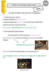 Passé composé – CM1 – Leçon