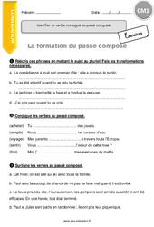 Passé composé – CM1 – Exercices à imprimer