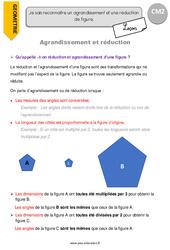 Agrandissement et réduction - CM2 - Leçon
