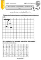 Agrandissement et réduction - CM2 - Exercices à imprimer