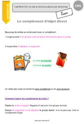 Complément d'objet direct - CM1 - Leçon