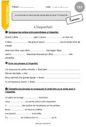 Imparfait – CE2 – Exercices à imprimer