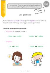 Préfixes – Leçon – CM1
