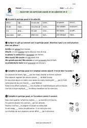 Accorder les participes passés et adjectifs en -é – CM1 – Exercices avec correction