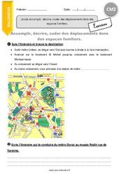 Déplacements dans des espaces familiers – CM2 – Exercices à imprimer
