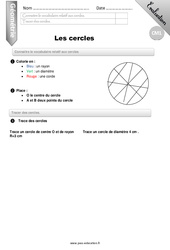 Cercles – CM1 – Evaluation – Bilan