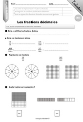 Fractions décimales – CM1 – Evaluation – Bilan