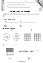 Fractions décimales - CM1 - Evaluation - Bilan