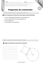 Programme de construction – CM1 – Evaluation – Bilan