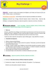 Séquence 4 – Big Challenge – Civilisation – CE1 – Anglais