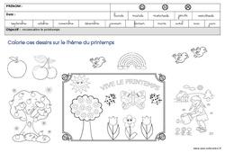 Coloriage sur le thème « printemps » – GS – Grande section