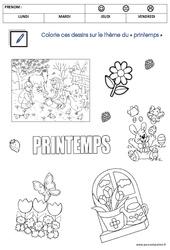 Coloriage sur le thème « printemps » – MS – Moyenne section
