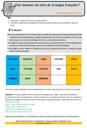 Mots de la langue française - CM1 - Soutien scolaire - Aide aux devoirs