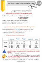 Pronoms personnels - Leçon - CM2