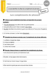 Compléments de phrases – Exercices à imprimer – CM2