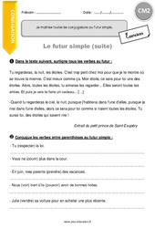 Futur simple des verbes en -dre et -oir - CM2 - Exercices à imprimer