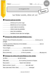Futur avoir, être et -er - CE2 - Exercices à imprimer