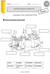 Lexique du château fort – CE2 – Exercices à imprimer