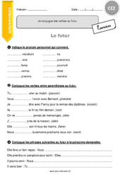 Verbes irréguliers au futur - CE2 - Exercices à imprimer