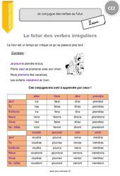Verbes irréguliers au futur - CE2 - Leçon