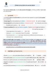 Utiliser les accents et autres signes – CM2 – Leçon