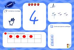 J'apprends à compter - Maternelle - Tableau