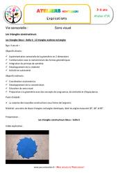 Triangles constructeurs numéro 6 – Vie sensorielle – Montessori – Atelier 14