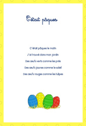 Comptines – Pâques – PS – MS – GS