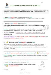Distinguer les mots se terminant en oir -oire - CM1 - Leçon