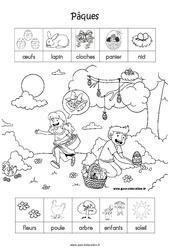 Scène et vocabulaire sur le thème «pâques» – MS – Moyenne Section