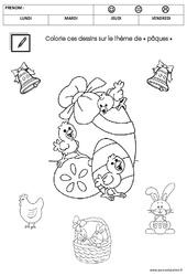 Coloriage - Pâques - PS - Petite section