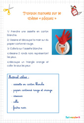 Travaux manuels - Pâques - Affiche - PS - Petite section
