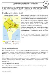Inde des Gupta – 6ème – Cours – Mondes lointains