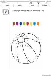 Coloriage magique – Été – GS – Grande Section