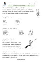 Mots contenant le son [j] avec -i, -il, -ill, -ll, -y – CM1 – Exercices avec correction