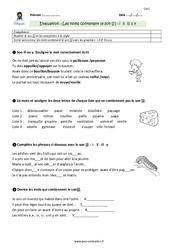 Mots contenant le son [j] avec -i, -il, -ill, -ll, -y - CM1 - Evaluation - Bilan