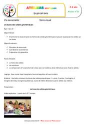 Bases des solides géométriques – Vie sensorielle – Montessori – Atelier 16