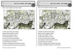 Les loups – Je lis un texte, une image – Ce1 – Exercices de lecture – Cycle 2