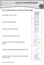 Le louveteau  – Je lis, j'associe l'image – Ce1 – Exercices de lecture – Cycle 2