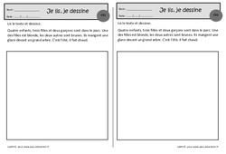 Les enfants – Je lis, je dessine – Ce1 – Exercices de lecture – Cycle 2